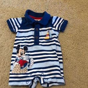 Mickey Mouse shorts onesie